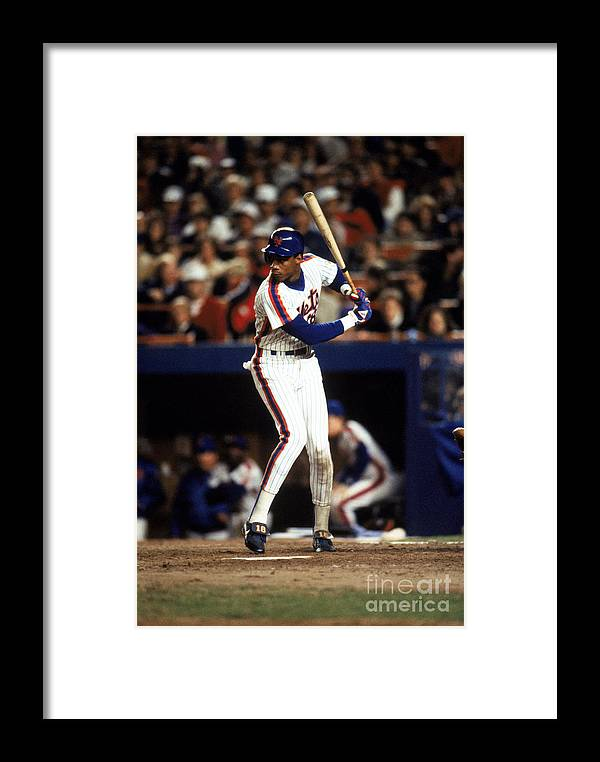 1980-1989 Framed Print featuring the photograph Red Sox V Mets 6 by T.g. Higgins