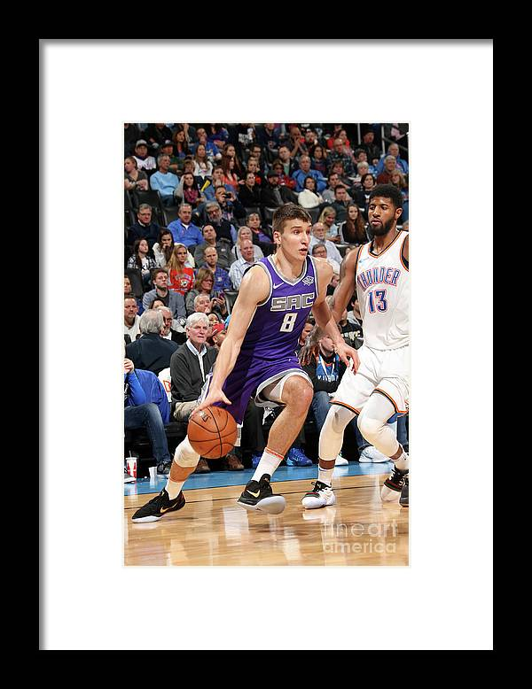 Nba Pro Basketball Framed Print featuring the photograph Sacramento Kings V Oklahoma City Thunder by Layne Murdoch
