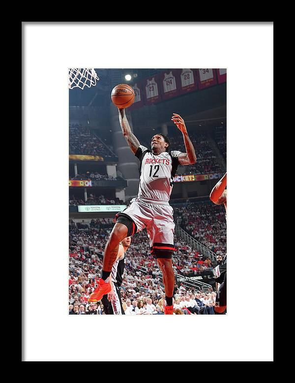 Playoffs Framed Print featuring the photograph San Antonio Spurs V Houston Rockets - by Jesse D. Garrabrant
