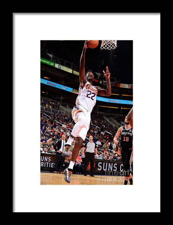 Nba Pro Basketball Framed Print featuring the photograph San Antonio Spurs V Phoenix Suns by Barry Gossage