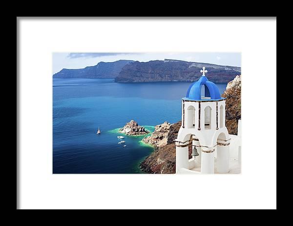 Greek Culture Framed Print featuring the photograph Santorini, Greece by Traveler1116