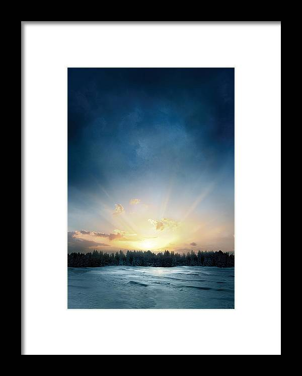 The Twilight Saga Breaking Dawn Framed Print featuring the digital art The Twilight Saga Breaking Dawn by Geek N Rock
