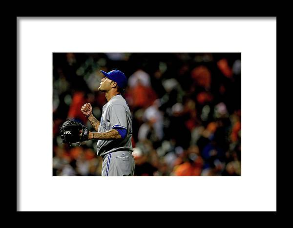 American League Baseball Framed Print featuring the photograph Toronto Blue Jays V Baltimore Orioles 6 by Patrick Smith