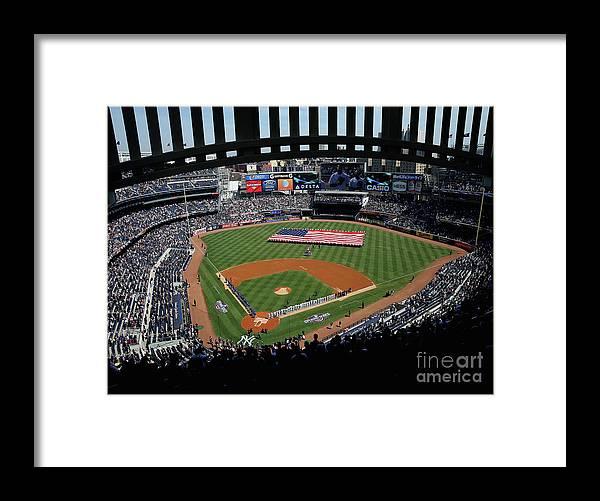American League Baseball Framed Print featuring the photograph Toronto Blue Jays V New York Yankees by Elsa