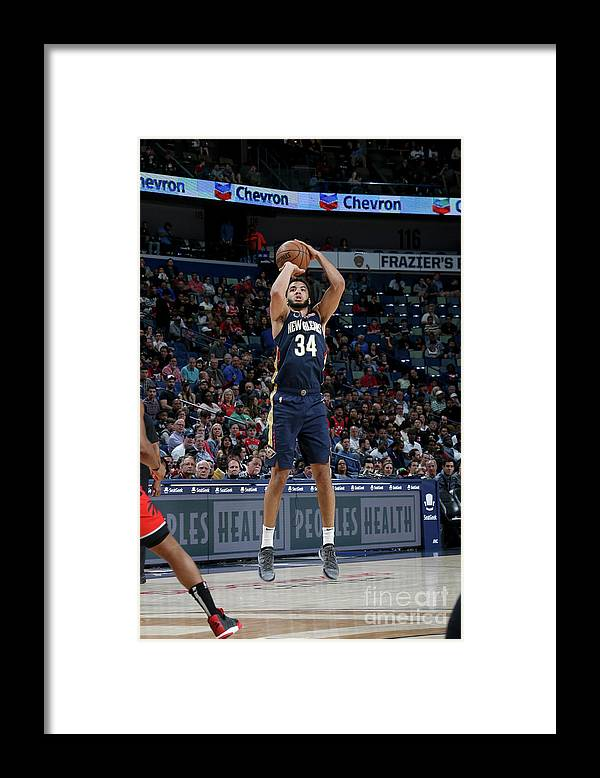 Smoothie King Center Framed Print featuring the photograph Toronto Raptors V New Orleans Pelicans by Layne Murdoch Jr.