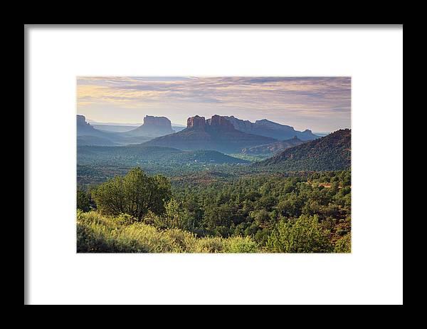 Scenics Framed Print featuring the photograph Usa, Arizona, Sedona by Michele Falzone
