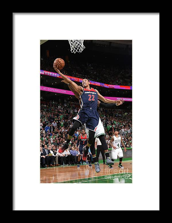 Playoffs Framed Print featuring the photograph Washington Wizards V Boston Celtics - by Brian Babineau