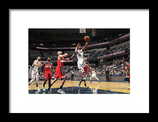 Nba Pro Basketball Framed Print featuring the photograph Washington Wizards V Memphis Grizzlies by Joe Murphy
