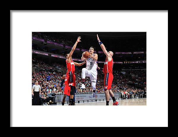 Nba Pro Basketball Framed Print featuring the photograph Washington Wizards V Philadelphia 76ers by Jesse D. Garrabrant