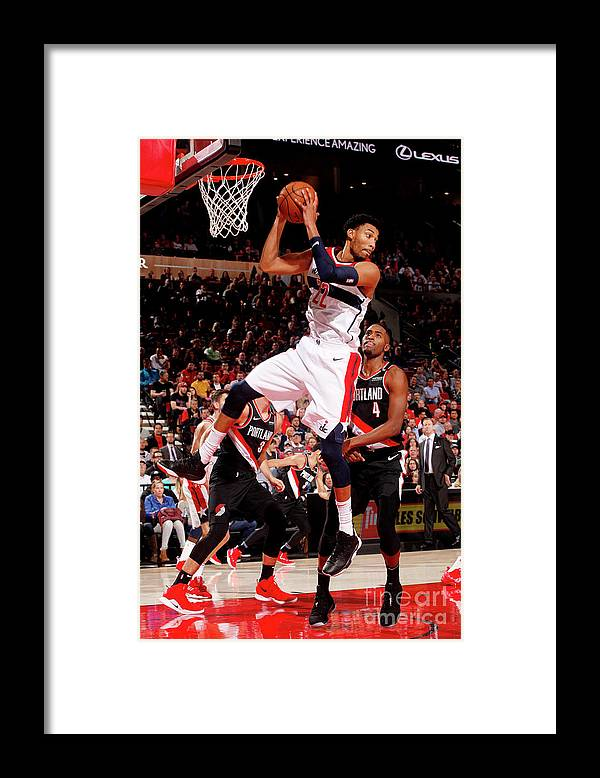 Nba Pro Basketball Framed Print featuring the photograph Washington Wizards V Portland Trail by Cameron Browne