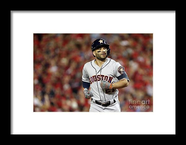 American League Baseball Framed Print featuring the photograph World Series - Houston Astros V by Patrick Smith