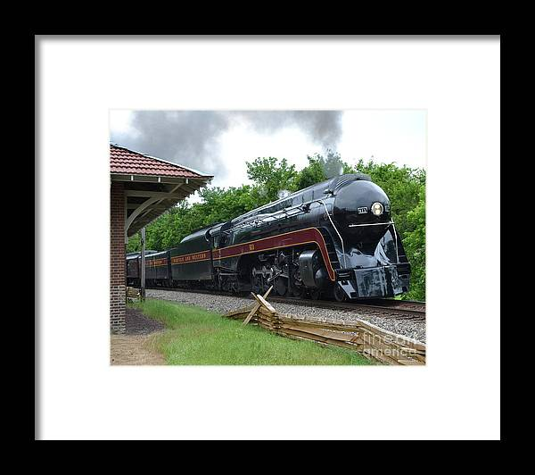 The Plains Framed Print featuring the photograph 611 Eastbound at The Plains by Steve Gass
