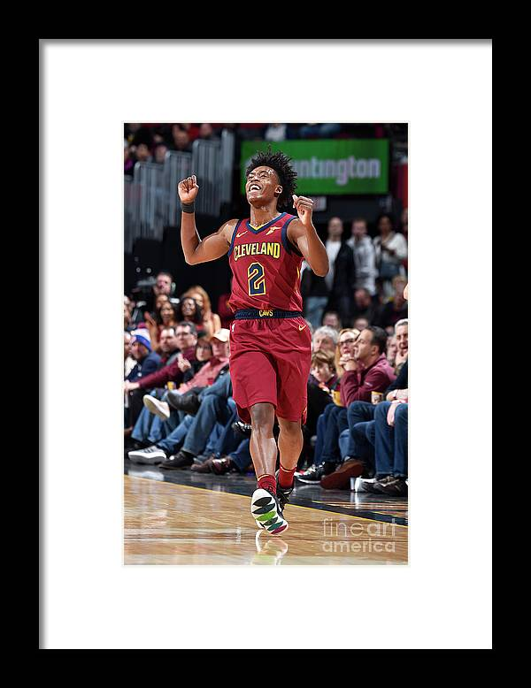 Nba Pro Basketball Framed Print featuring the photograph Indiana Pacers V Cleveland Cavaliers by David Liam Kyle
