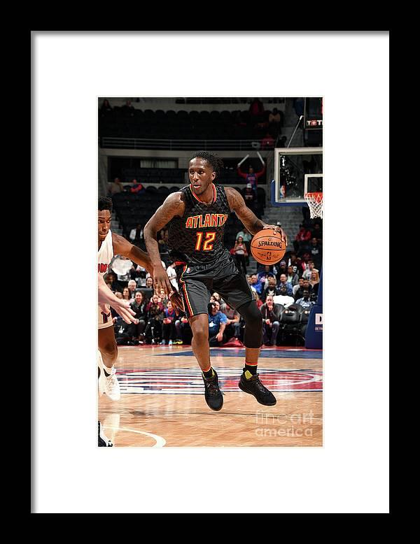 Nba Pro Basketball Framed Print featuring the photograph Atlanta Hawks V Detroit Pistons by Chris Schwegler
