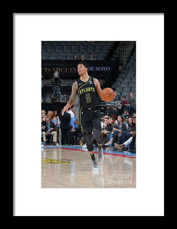 Nba Pro Basketball Framed Print featuring the photograph Atlanta Hawks V Sacramento Kings by Rocky Widner