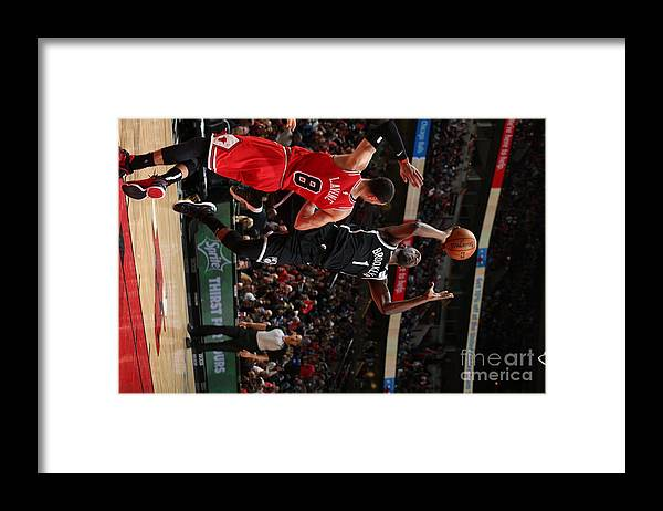 Nba Pro Basketball Framed Print featuring the photograph Brooklyn Nets V Chicago Bulls by Gary Dineen