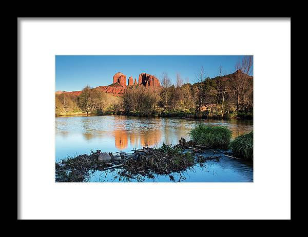 Mesa Framed Print featuring the photograph Cathedral Rock by Jgareri