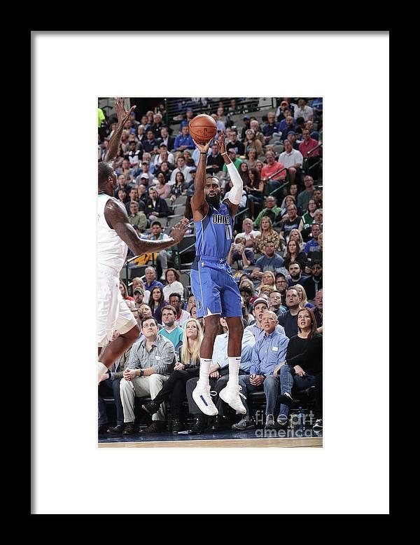 Tim Hardaway Jr. Framed Print featuring the photograph Charlotte Hornets V Dallas Mavericks by Glenn James