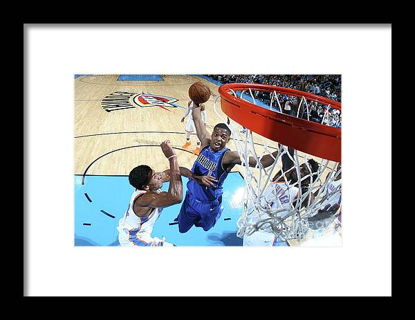 Nba Pro Basketball Framed Print featuring the photograph Dallas Mavericks V Oklahoma City Thunder by Layne Murdoch