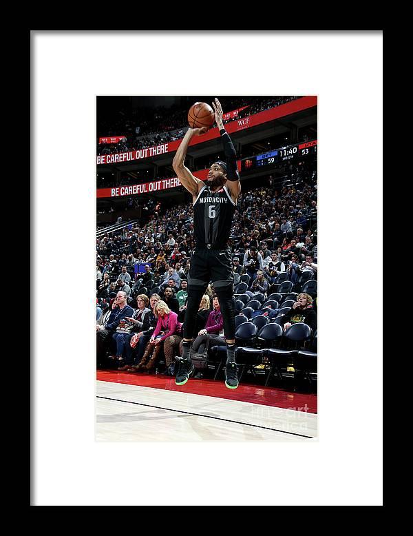 Nba Pro Basketball Framed Print featuring the photograph Detroit Pistons V Utah Jazz by Melissa Majchrzak