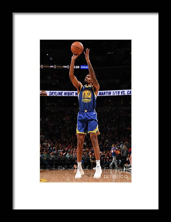 Nba Pro Basketball Framed Print featuring the photograph Golden State Warriors V Denver Nuggets by Garrett Ellwood