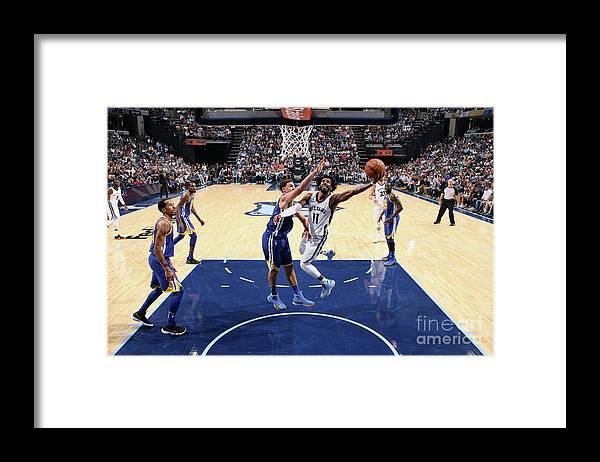 Nba Pro Basketball Framed Print featuring the photograph Golden State Warriors V Memphis by Joe Murphy