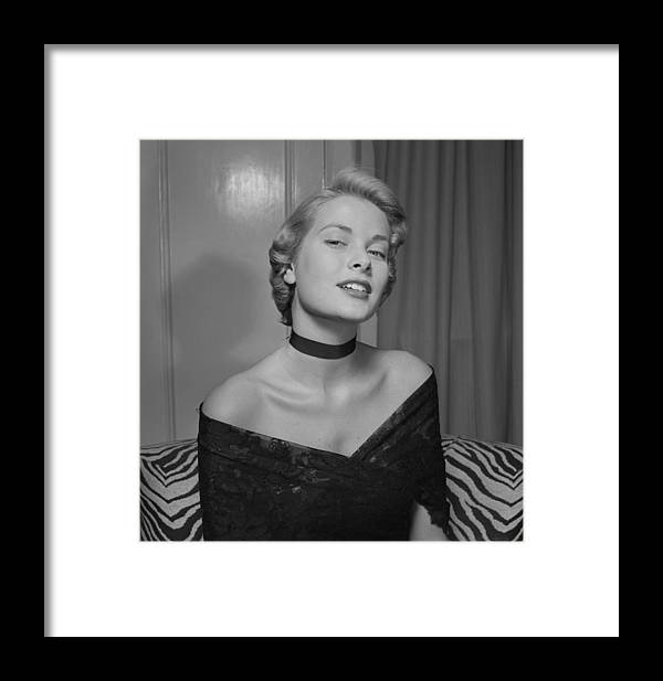 Artist Framed Print featuring the photograph Grace Kelly Portrait Session by Ed Vebell