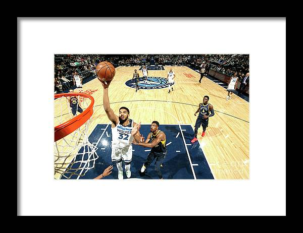 Nba Pro Basketball Framed Print featuring the photograph Indiana Pacers V Minnesota Timberwolves by David Sherman
