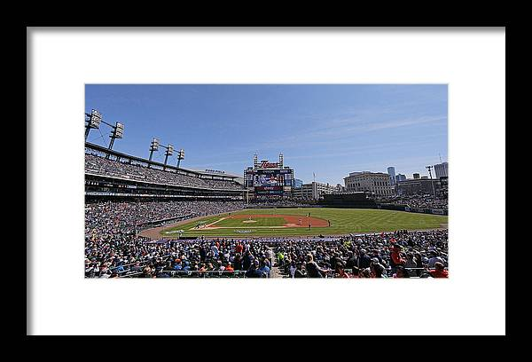 American League Baseball Framed Print featuring the photograph Kansas City Royals V Detroit Tigers 7 by Leon Halip