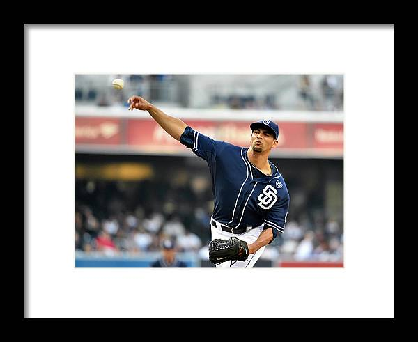 California Framed Print featuring the photograph Los Angeles Dodgers V San Diego Padres 7 by Denis Poroy