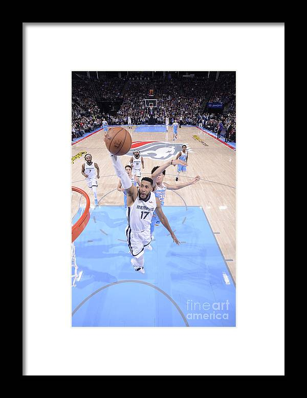Nba Pro Basketball Framed Print featuring the photograph Memphis Grizzlies V Sacramento Kings by Rocky Widner