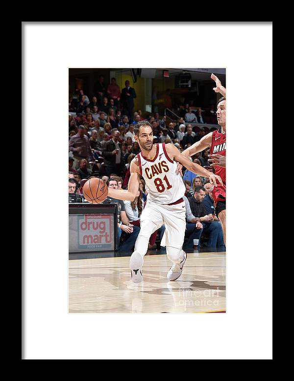 Nba Pro Basketball Framed Print featuring the photograph Miami Heat V Cleveland Cavaliers by David Liam Kyle