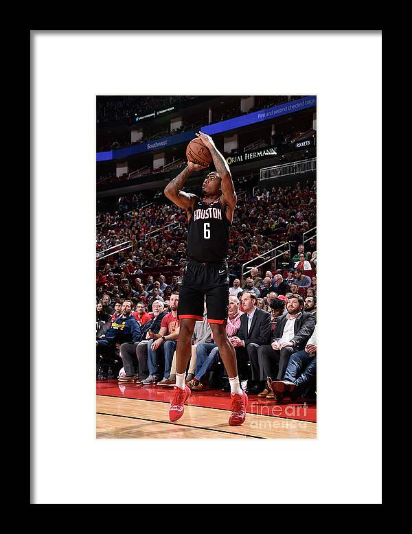 Nba Pro Basketball Framed Print featuring the photograph Miami Heat V Houston Rockets by Bill Baptist