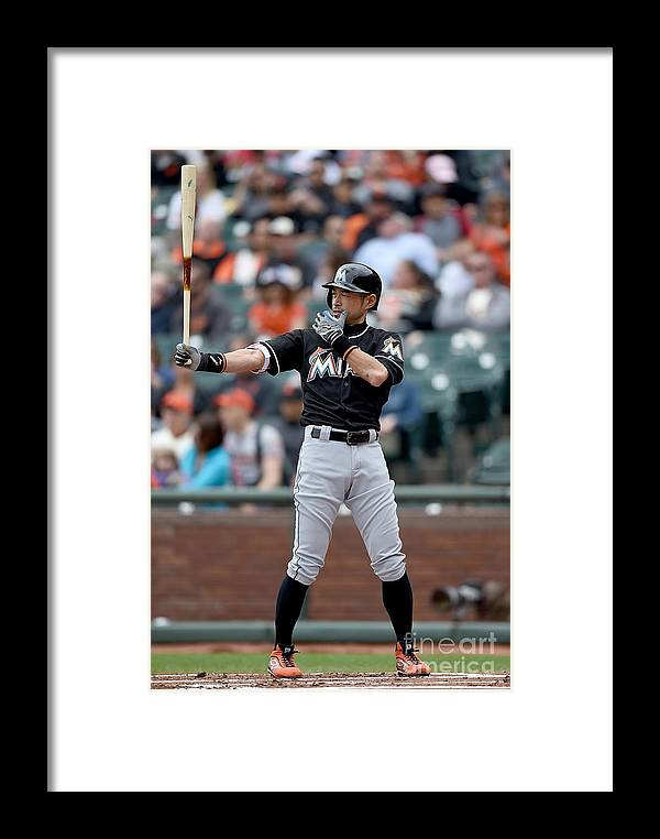 San Francisco Framed Print featuring the photograph Miami Marlins V San Francisco Giants 7 by Thearon W. Henderson