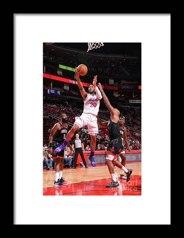 Nba Pro Basketball Framed Print featuring the photograph Minnesota Timberwolves V Houston Rockets by Bill Baptist