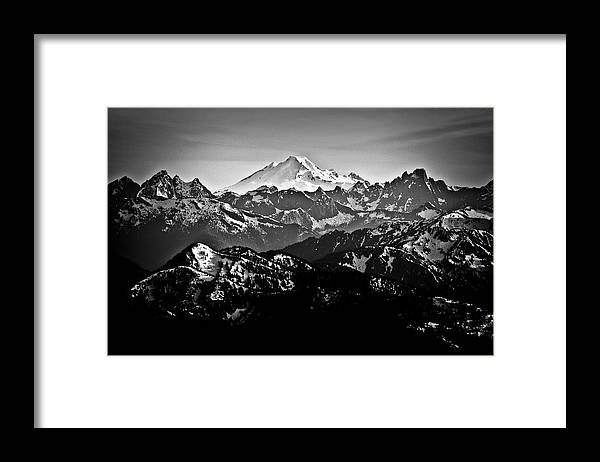 Tranquility Framed Print featuring the photograph Mount Baker by Christopher Kimmel