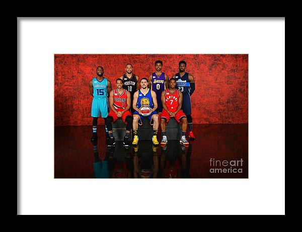 Event Framed Print featuring the photograph Nba All-star Portraits 2017 by Jesse D. Garrabrant