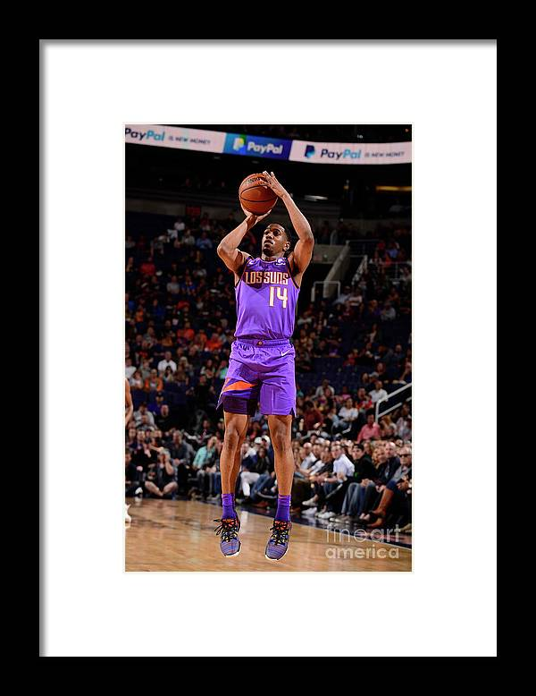 Nba Pro Basketball Framed Print featuring the photograph New Orleans Pelicans V Phoenix Suns by Barry Gossage