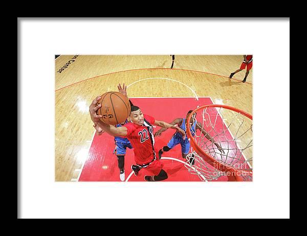 Nba Pro Basketball Framed Print featuring the photograph Oklahoma City Thunder V Washington by Ned Dishman
