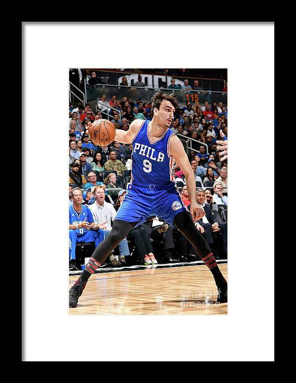 Nba Pro Basketball Framed Print featuring the photograph Philadelphia 76ers V Orlando Magic by Fernando Medina