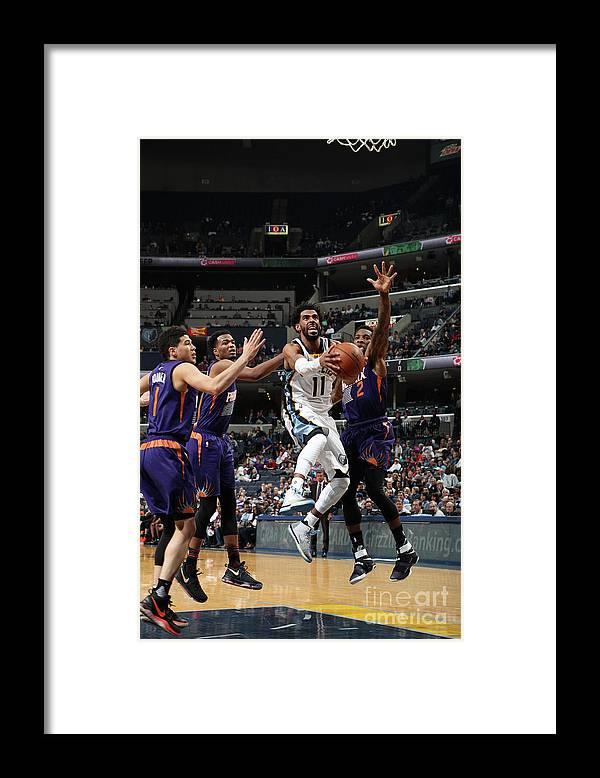 Nba Pro Basketball Framed Print featuring the photograph Phoenix Suns V Memphis Grizzlies by Joe Murphy