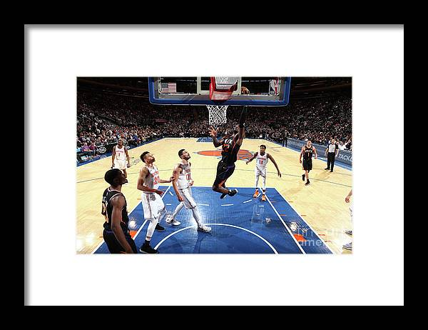 Nba Pro Basketball Framed Print featuring the photograph Phoenix Suns V New York Knicks by Nathaniel S. Butler