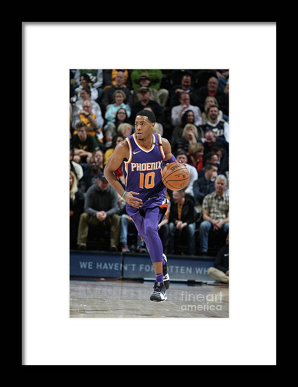 Nba Pro Basketball Framed Print featuring the photograph Phoenix Suns V Utah Jazz by Melissa Majchrzak