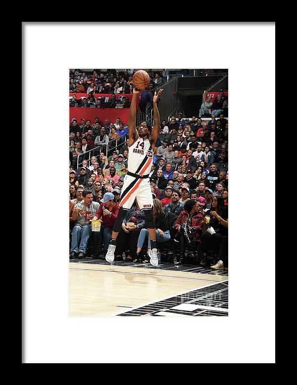 Nba Pro Basketball Framed Print featuring the photograph Portland Trail Blazers V La Clippers by Andrew D. Bernstein