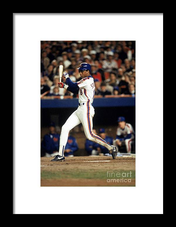 1980-1989 Framed Print featuring the photograph Red Sox V Mets 7 by T.g. Higgins