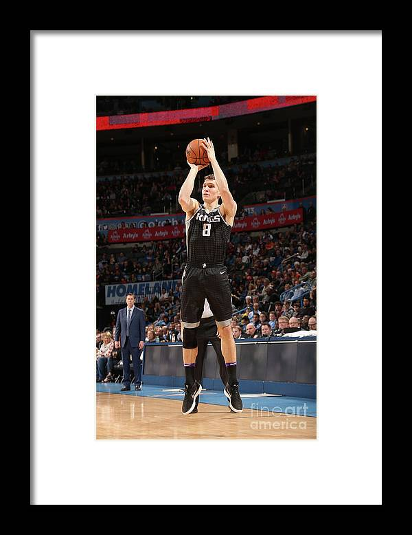 Nba Pro Basketball Framed Print featuring the photograph Sacramento Kings V Oklahoma City Thunder by Layne Murdoch