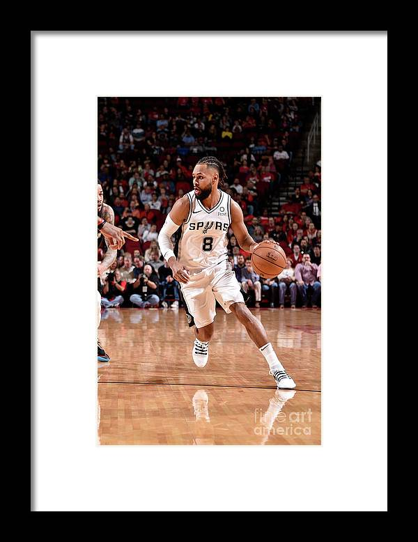 Nba Pro Basketball Framed Print featuring the photograph San Antonio Spurs V Houston Rockets by Bill Baptist