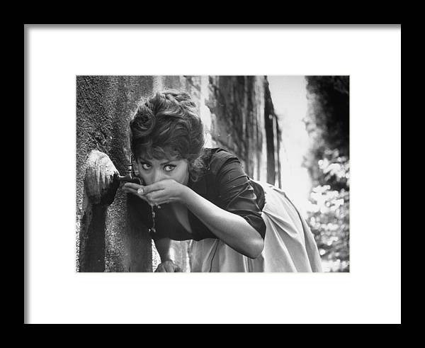 Timeincown Framed Print featuring the photograph Sophia Loren by Alfred Eisenstaedt