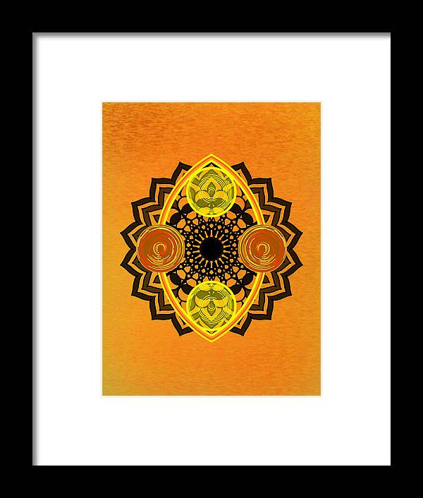 Sacred Geometry Framed Print featuring the digital art Untitled by Giuseppe Barilla