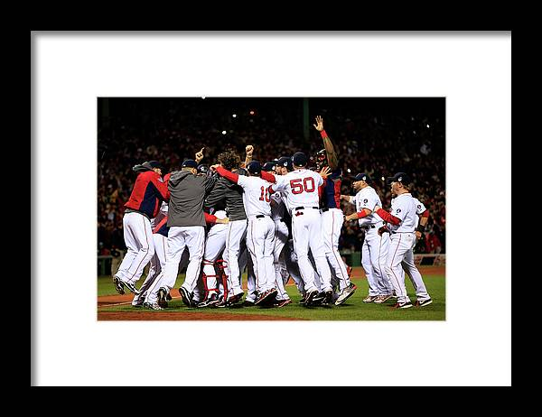 St. Louis Cardinals Framed Print featuring the photograph World Series - St Louis Cardinals V by Jamie Squire